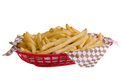 French fries in basket Stock Photography