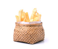 French fries in basket Royalty Free Stock Image