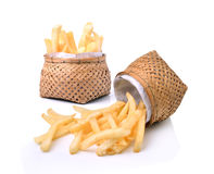 French fries in basket Stock Image
