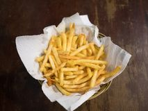 French Fries ready to serve royalty free stock photos
