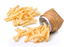 French fries in basket Stock Photo