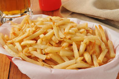 French fries and beer Stock Photos