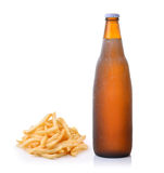 French fries and beer Royalty Free Stock Photography
