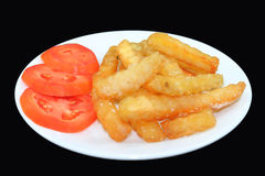 French Fries Black and White Stock Photo