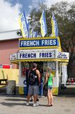 French Fries Booth Stock Photos