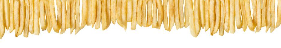 French Fries Border Royalty Free Stock Images