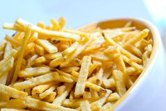 french fries in a bowl Stock Images