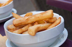 French fries in a bowl at restaurant Stock Image