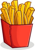 French Fries in a Box Cartoon Stock Image