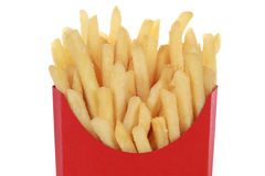 French fries in a box, isolated Stock Image