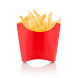 French fries in carton box Stock Photos