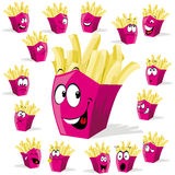 French fries cartoon Royalty Free Stock Photos