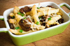 French fries casserole stock photo