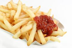 French fries with catchup Stock Image