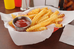 French fries with catsup Royalty Free Stock Photography