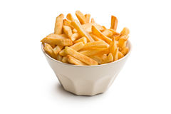 French fries in ceramic bowl Stock Photo