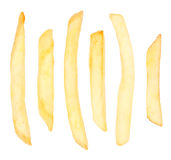 French Fries Chips Isolated Stock Images