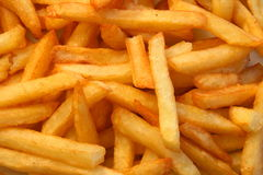 French fries close up. Close up of hot french fries Stock Photos