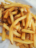 French fries closeup. Closeup of freshly made french fries Royalty Free Stock Image