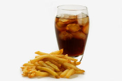 French fries and coke Stock Photography