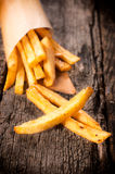 French fries in cornet Royalty Free Stock Images