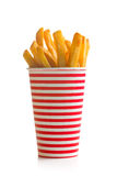 French fries in cup Royalty Free Stock Photo
