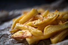 French fries on dark background Stock Images