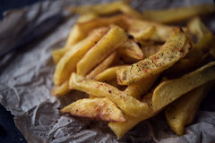 French fries on dark background Stock Photography