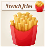 French fries. Detailed vector icon. Series of food and drink and ingredients for cooking Stock Image