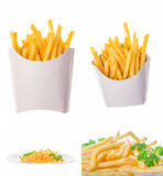 French fries in different portions Stock Photography