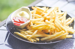 French fries dish or fried potato Royalty Free Stock Image