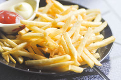 French fries dish or fried potato Stock Images