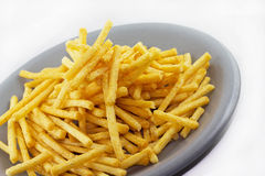 French fries. In a dish gray Stock Photo