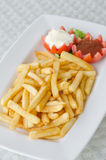 French fries on dish Royalty Free Stock Image