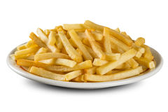 French fries on dish. Potato Royalty Free Stock Photos