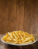 French fries on dish Stock Photography