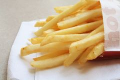 French Fries the fast food meal. French Fries the tasty fast food meal on the menu Royalty Free Stock Images