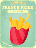 French Fries. Fast Food Menu. Vector Illustration Stock Photography