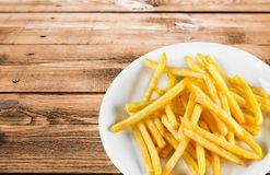 French Fries. Fast Food  Prepared Potato Heat Fried Food Fast Food Royalty Free Stock Images