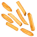 French fries in freeze motion Royalty Free Stock Photos