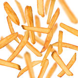 French fries in freeze motion Stock Image