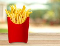 French fries. Unhealthy eating food fast food  isolated fried snack stock image