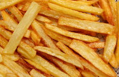 French fries fried in oil Royalty Free Stock Photos