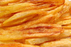 French fries fried in oil Royalty Free Stock Photography