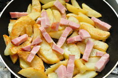 French Fries Frying Royalty Free Stock Image