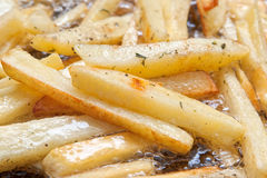 French Fries Frying Stock Image