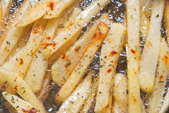 French Fries Frying Royalty Free Stock Photo