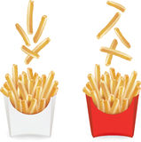 French fries with a glass of water.vector Royalty Free Stock Image