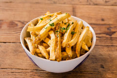 French fries with herbs Royalty Free Stock Images