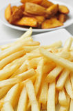 French fries and home fries Royalty Free Stock Image